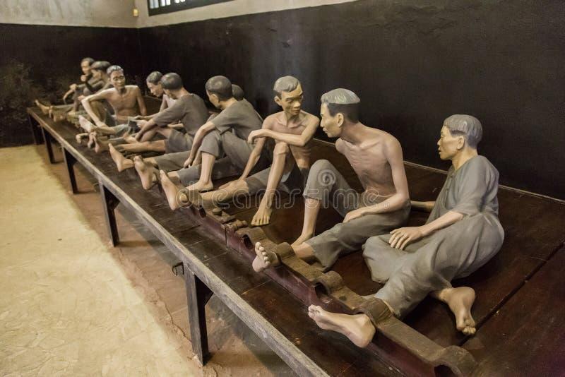Gefängnis Hoa Lo in Hanoi, Vietnam stockfotos