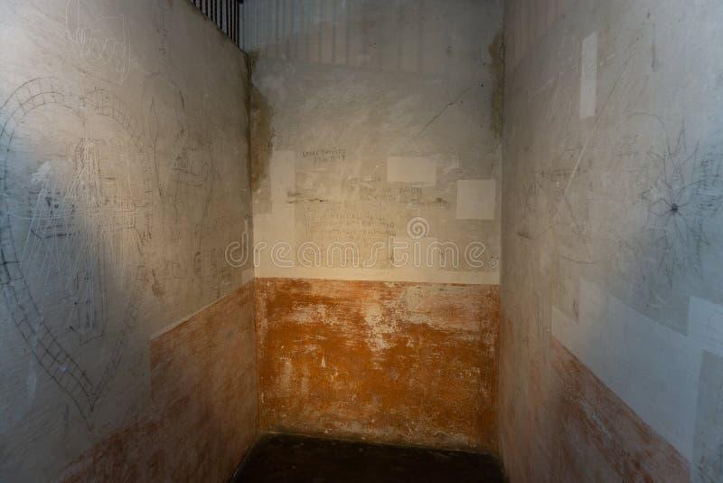 Gefängnis im Nationalmuseum von Costa Rica stockbild