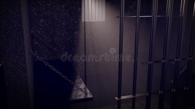 Gefängnis Interier lizenzfreie abbildung