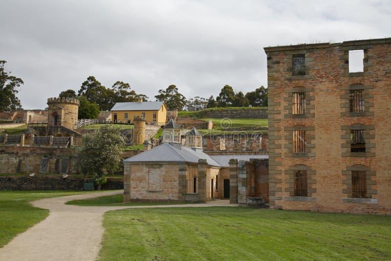 Gefängnis-Port Arthur, Tasmanien, Australien stockfotos