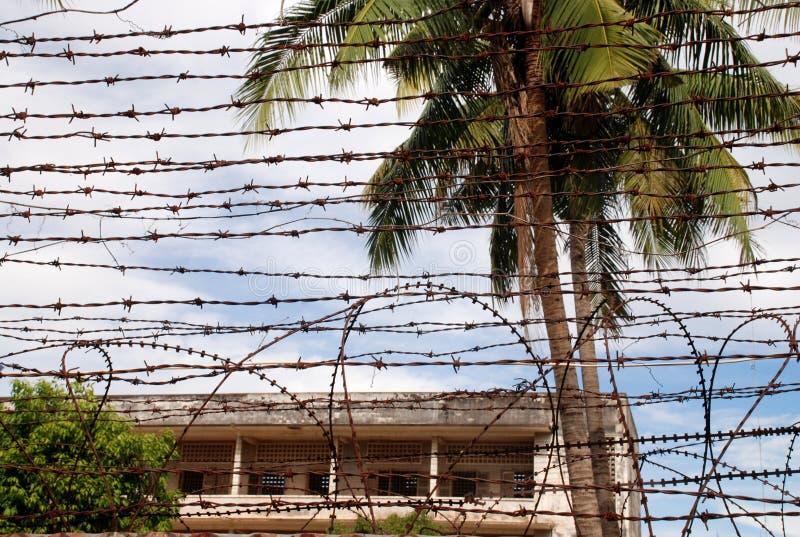 Gefängnis S21 stockbilder