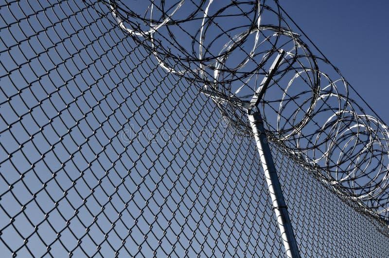 Gefängnis-Sicherheitszaun lizenzfreie stockfotografie