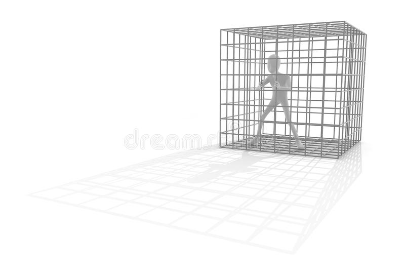 Gefängnisgefängnis stock abbildung