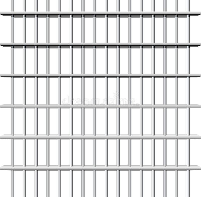 Gefängnisgitter stock abbildung