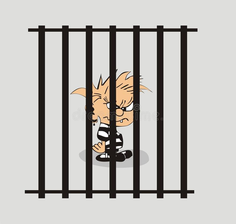 Gefängniskarikatur stock abbildung