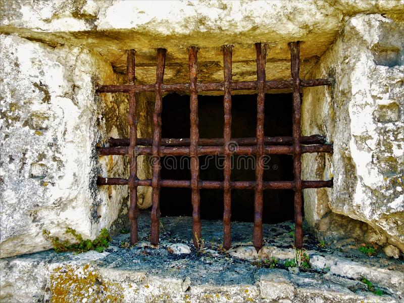 Gefängnisstangen stockbilder