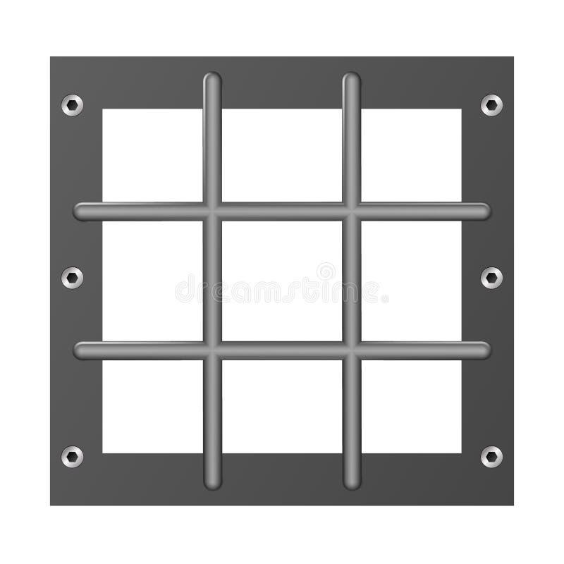 Gefängnisstangen-Metallrealistisches ausführliches lokalisiert auf transparentem Hintergrund Entwurfsgefängnis Eisenzellen Ausf?h lizenzfreie abbildung