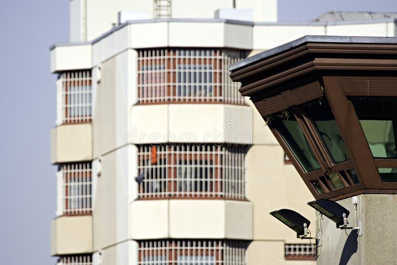 Gefängnisuhrkontrollturm 5 stockfotografie