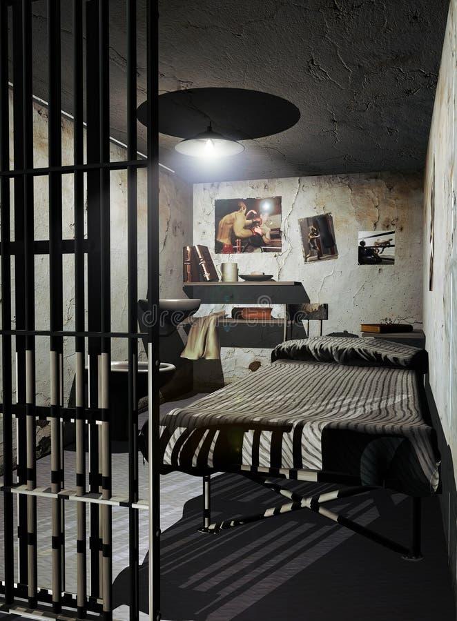 Gefängniszelle vektor abbildung