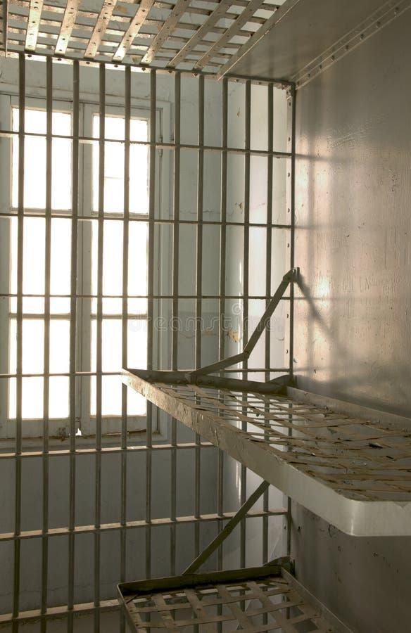 Gefängniszelle stockbild