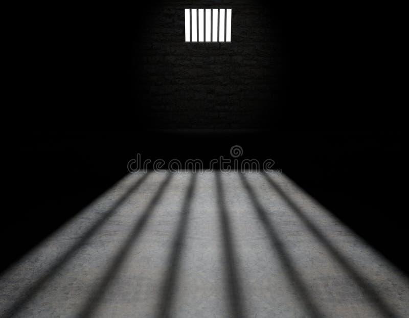 Gefängniszelle, innerhalb einer Gefängniszelle stock abbildung