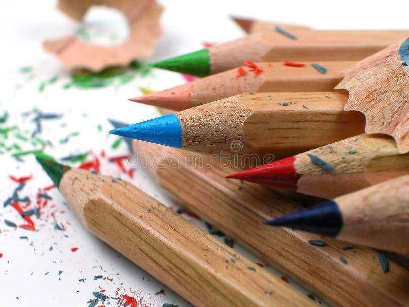 Gefärbt Bleistift-Positioniert lizenzfreies stockbild