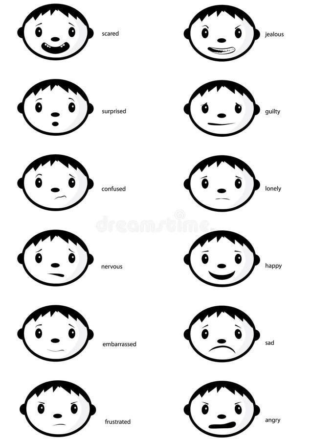 gefühlgesichter vektor abbildung illustration von