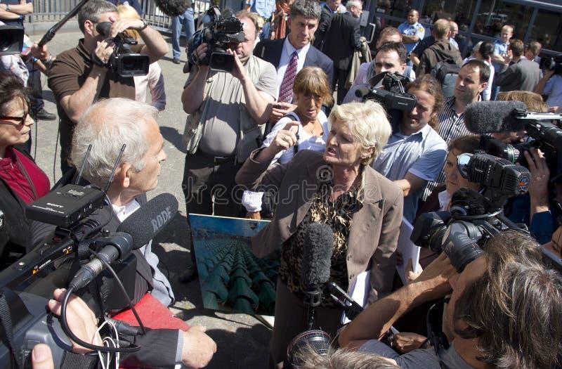 Gefühl am Mladic Versuch lizenzfreie stockbilder