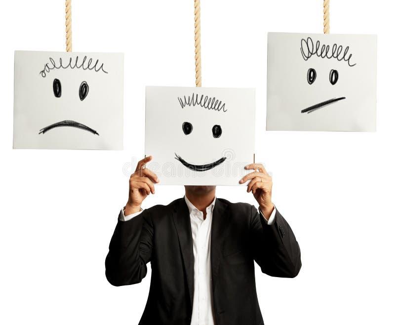 Gefühle im Geschäft stockbilder