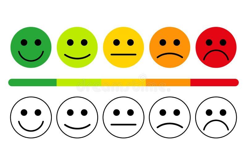 Gefühle mit Lächeln stock abbildung