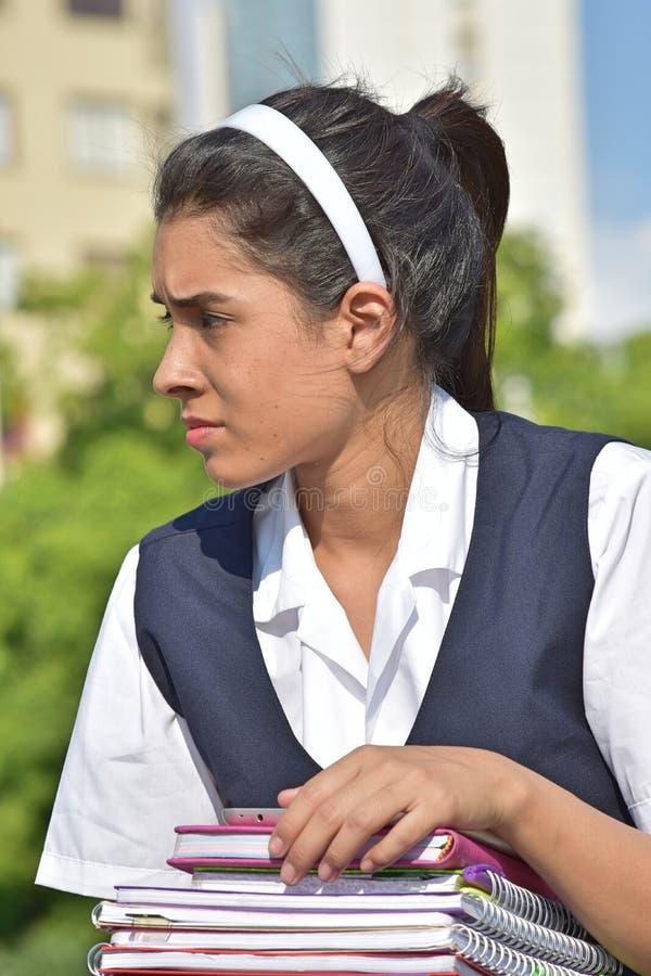 Gefühllose katholische Studentin lizenzfreies stockfoto