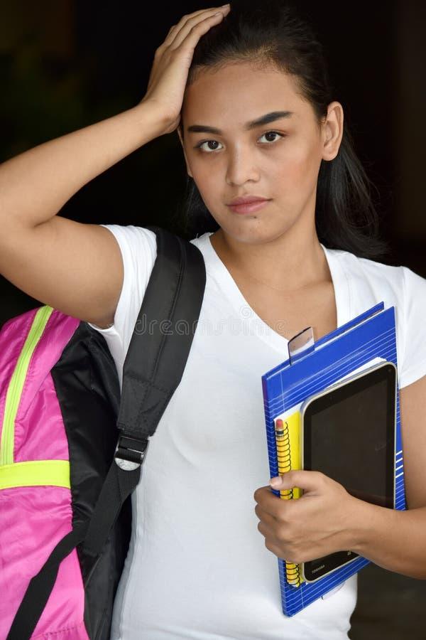 Gefühllose nette Minderheits-Studentin stockbilder