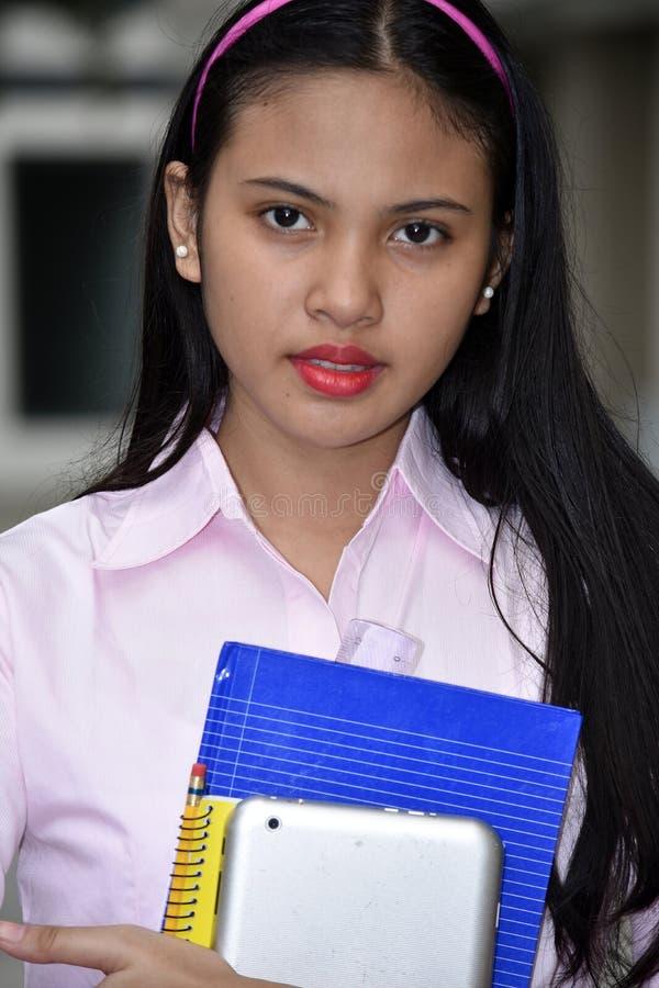 Gefühllose Studentin With Notebooks stockfotos