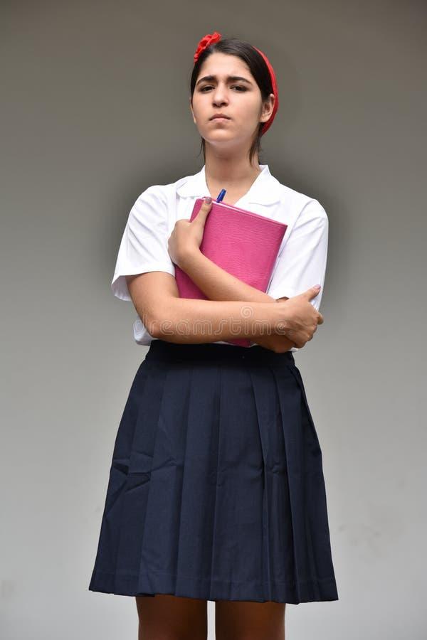 Gefühlloser katholischer Person With Notebook stockfotografie