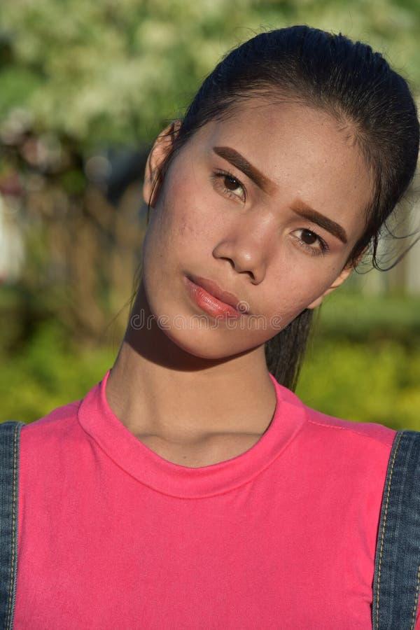 Gefühlloses Filipina Female lizenzfreies stockfoto