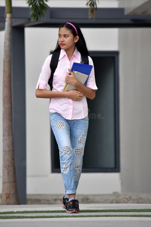 Gefühlloses Filipina Student Teenager School Girl lizenzfreie stockbilder