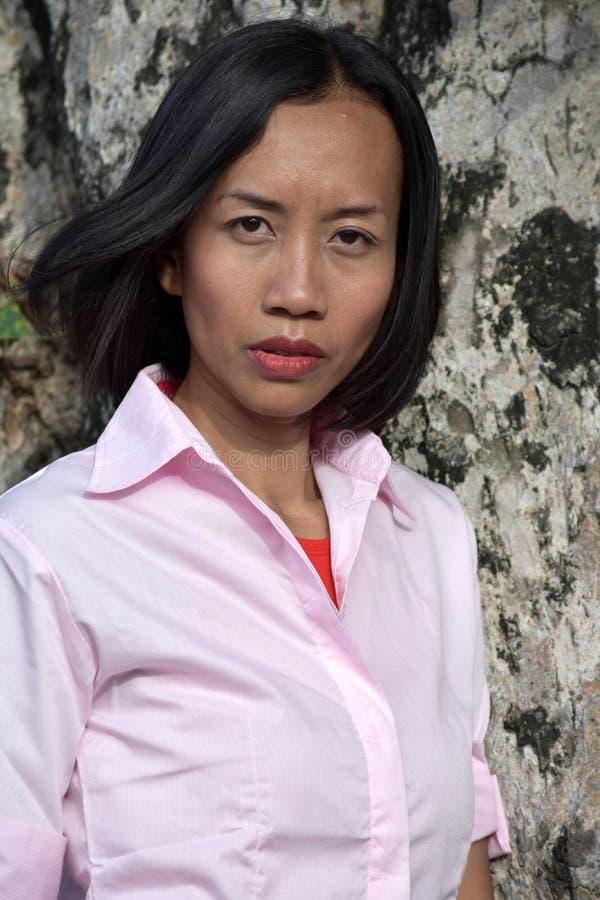 Gefühlloses junges Filipina Female Woman stockbilder