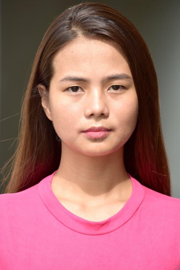Gefühlloses junges Filipina Woman lizenzfreie stockfotografie