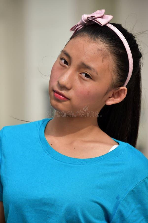 Gefühlloses nettes Filipina Girl stockbilder