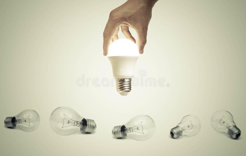 Geführte Glühlampe stockbild