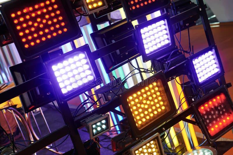 Geführte Stadiumsbeleuchtung lizenzfreie stockbilder