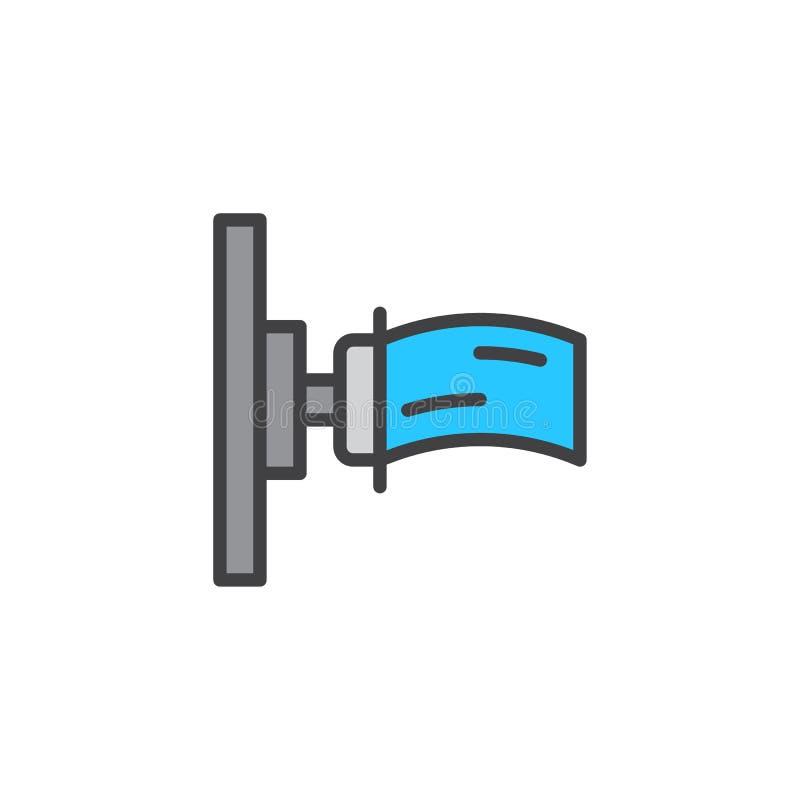 Gefüllte Entwurfsikone des Hydranten Schlauch lizenzfreie abbildung