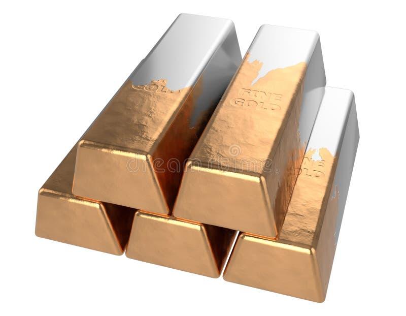Gef?lschtes Gold Vergoldetes Metall lizenzfreie abbildung