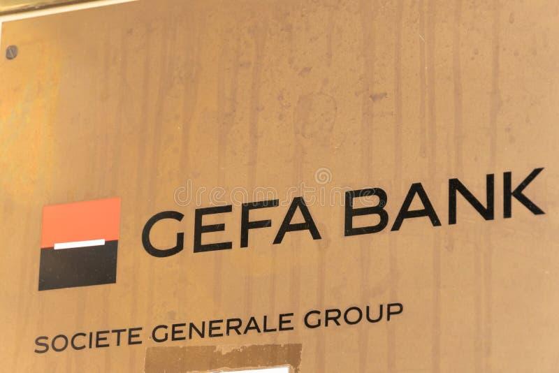 Gefa bankSociete Generale grupp royaltyfria bilder