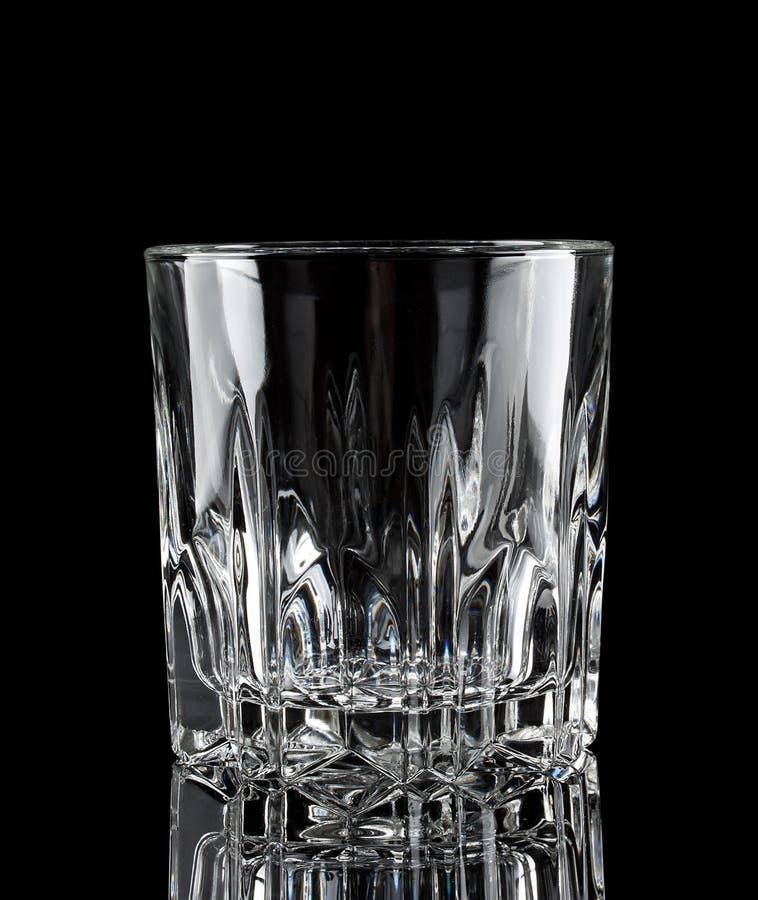 Gefacetteerd duidelijk leeg glas stock fotografie