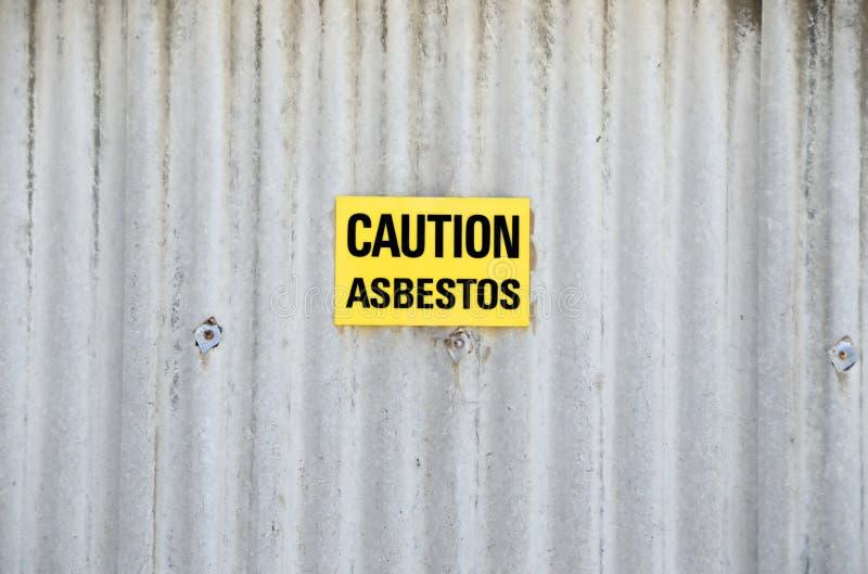 Gefahr asbestis lizenzfreie stockfotos