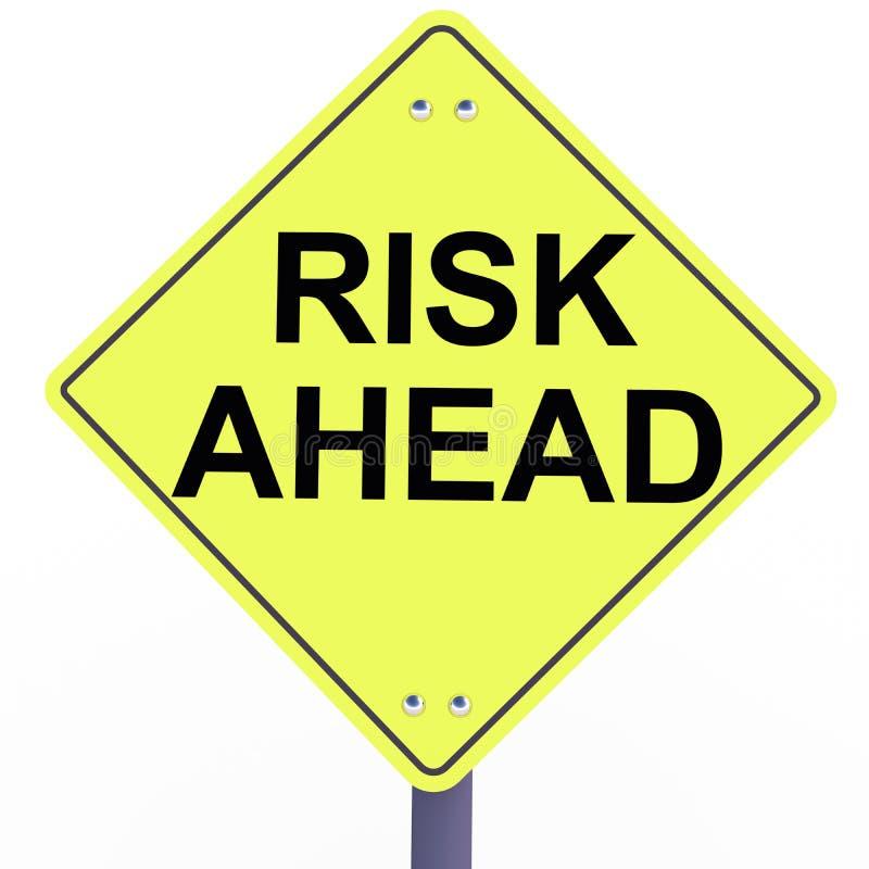 Gefahr bevorstehend voran stock abbildung
