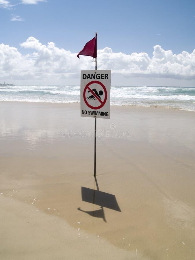 Gefahr!!! kein swimmig lizenzfreie stockbilder