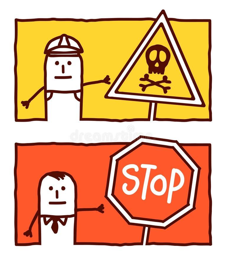 Gefahr u. Anschlag stock abbildung