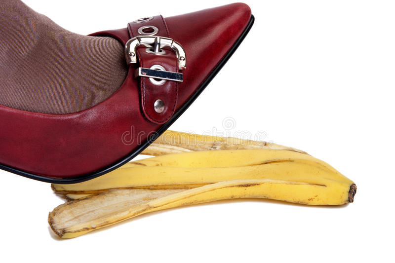 Gefahr von Unfällen von Bananenhaut 3 lizenzfreie stockfotografie