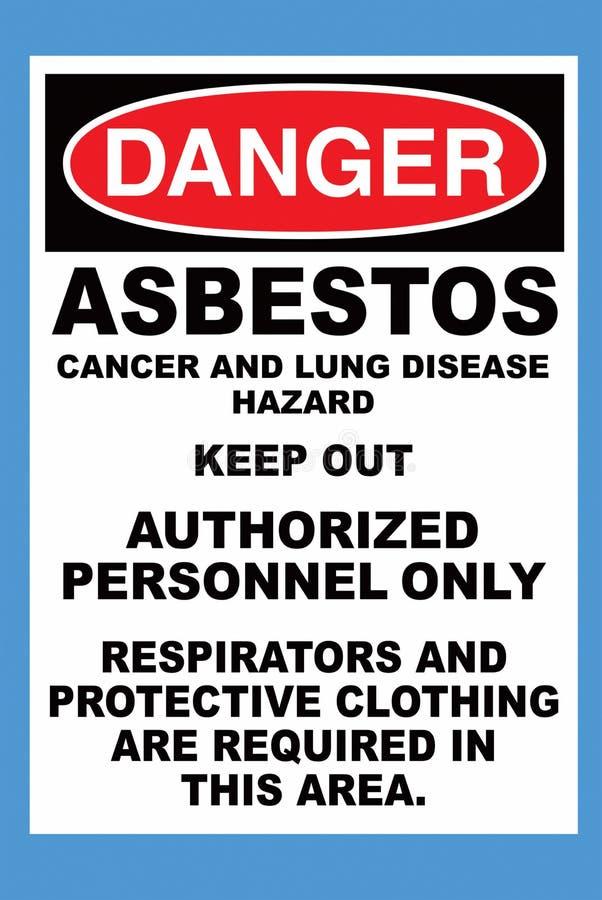 Gefahren-Asbest vektor abbildung