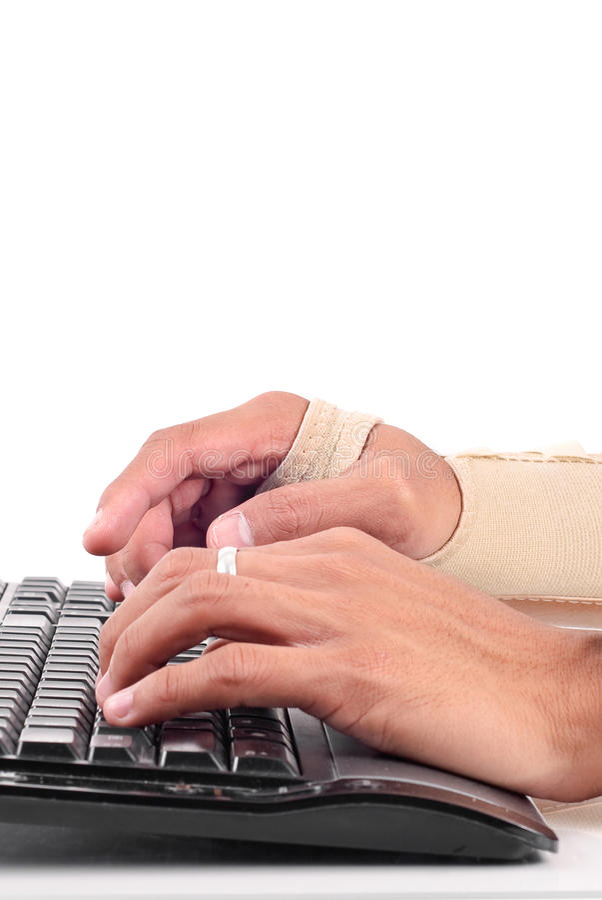 Gefahren der Computer-Arbeit lizenzfreie stockbilder