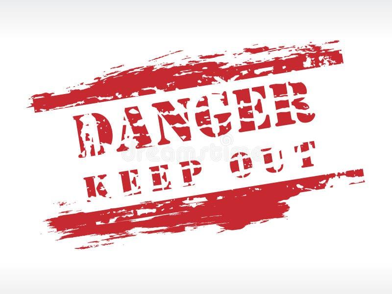 Gefahren-Stempel lizenzfreie abbildung