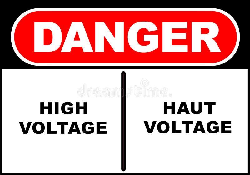 Gefahren-Zeichen lizenzfreie abbildung