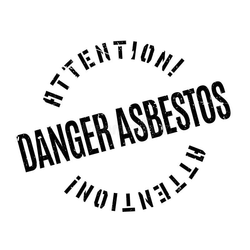 Gefahrenasbeststempel lizenzfreie abbildung