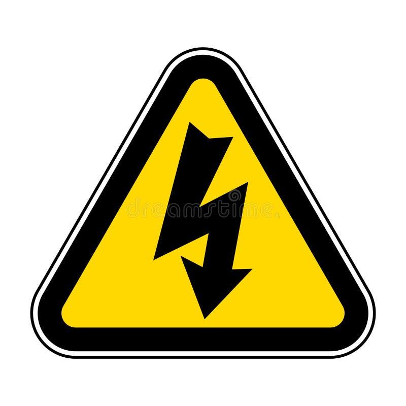 Gefahrenhochspannungssymbol-Isolat auf weißem Hintergrund, Vektor-Illustration ENV 10 stock abbildung