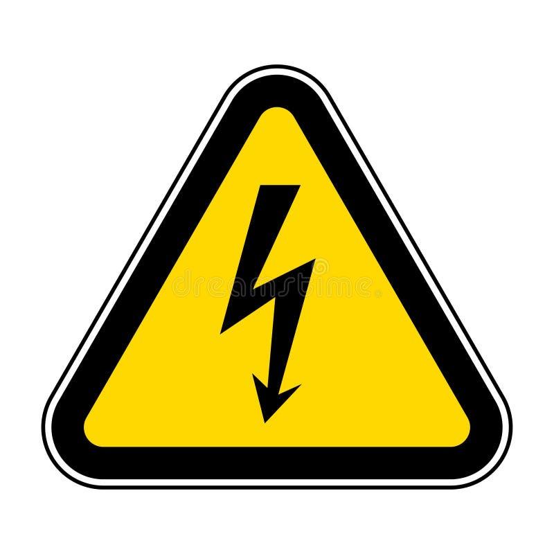 Gefahrenhochspannungssymbol-Zeichen-Isolat auf weißem Hintergrund, Vektor-Illustration ENV 10 lizenzfreie abbildung