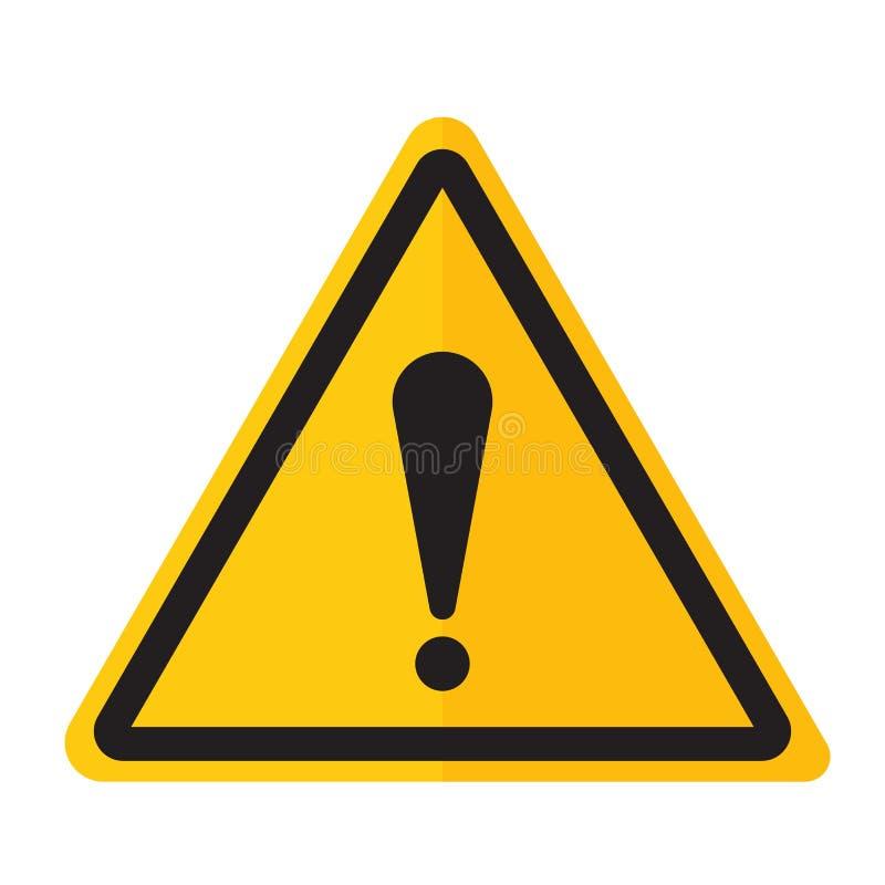 Gefahrenwarnende Ausrufezeichen-Zeichenikone stockfotos