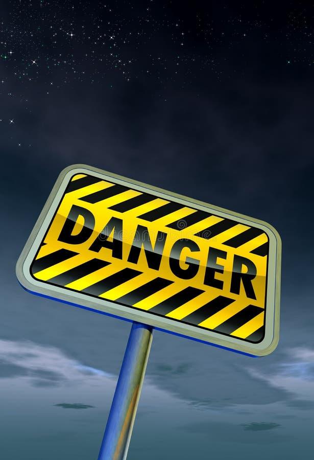 Gefahrenzeichen stock abbildung