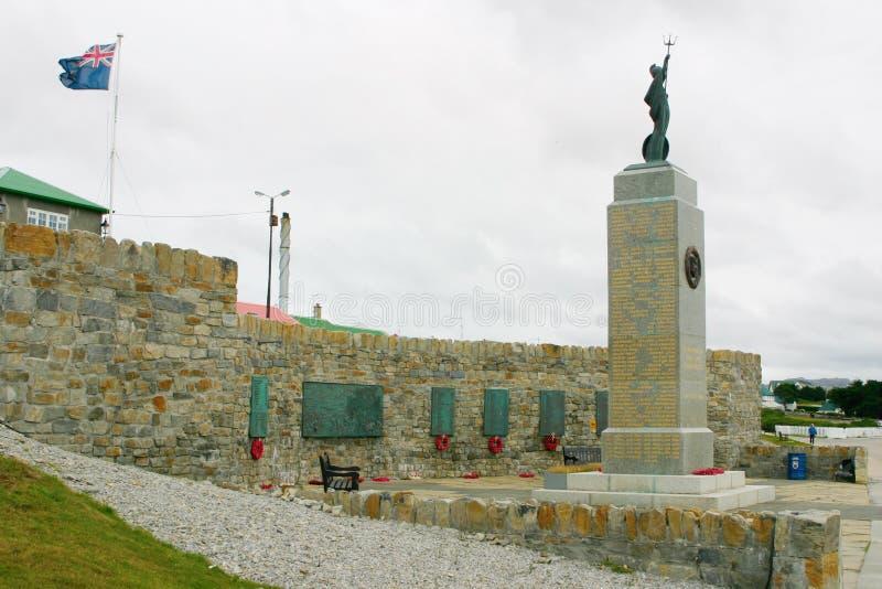 Gefallene britische Soldaten des Denkmales in Falkland Inseln stockbild
